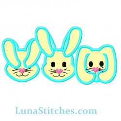 Three Bunnies Rabbits