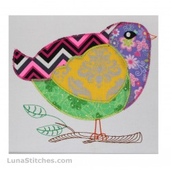 Baby Bird ZigZag Applique