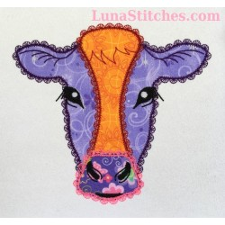 Cow Face Fancy Stitches