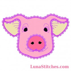 Pig Face Fancy Stitches