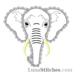 Elephant Face Fancy Stitches