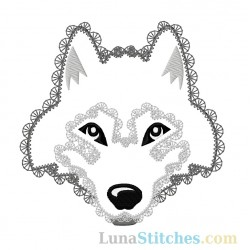 Wolf Face Fancy Stitches