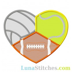 Volleyball Tennis Football  Heart