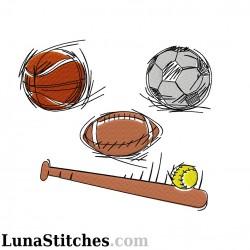 Sport Balls Face Fill