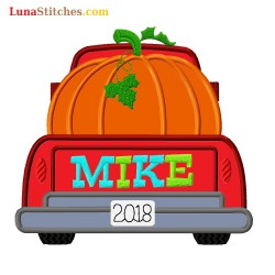 Red Truck Pumpkin