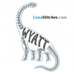 Long Neck Dino Custom Name