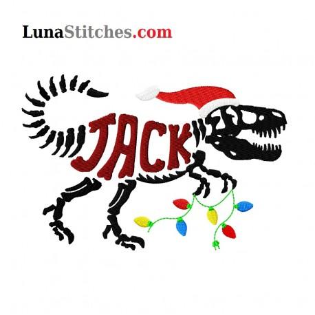 T-Rex Bones Christmas Custom Name
