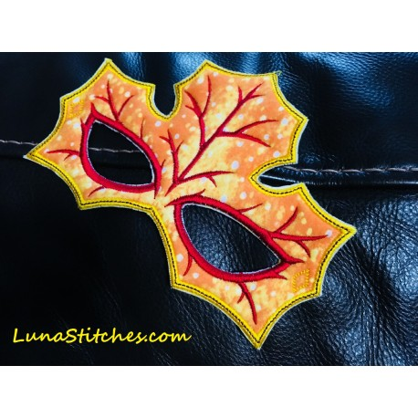 Autumn Leaf Mask In The Hoop Embroidery Applique Design