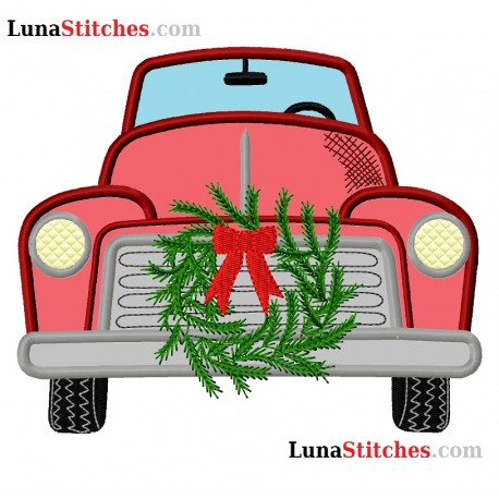 Red Truck Front Wreath
