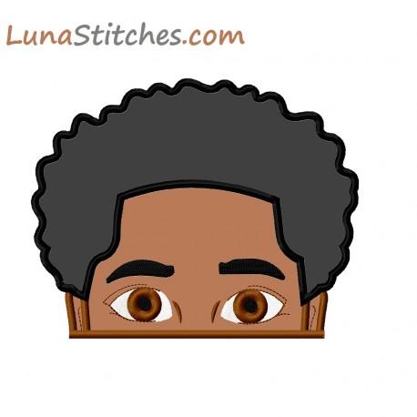 Afro Hair Boy Peeker