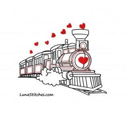 Train Sketch Hearts