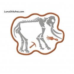 Mastodon Dinosaur Bones Frame