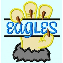 Split Eagle claws Applique Embroidery Design
