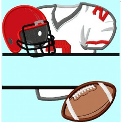 Split Football items Number 2, shirt, helmet, ball, Applique Embroidery Design