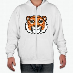 Split Tiger Head Embroidery Applique Designs for Hoodie or jacket