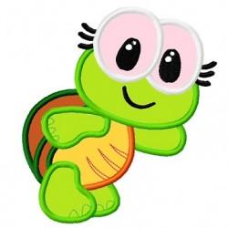 Cute Baby Turtle Embroidery Applique Design
