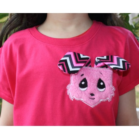 Bunny head Pocket shaped In The Hoop Embroidery Applique Design