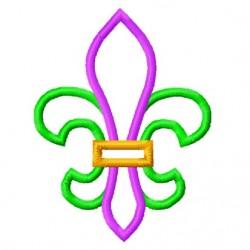 Simple Fleur De Lis Applique Embroidery Design