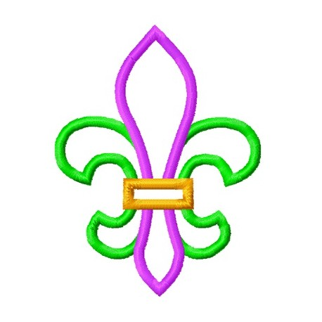 Simple Fleur De Lis Applique Embroidery Design Lunastitchescom