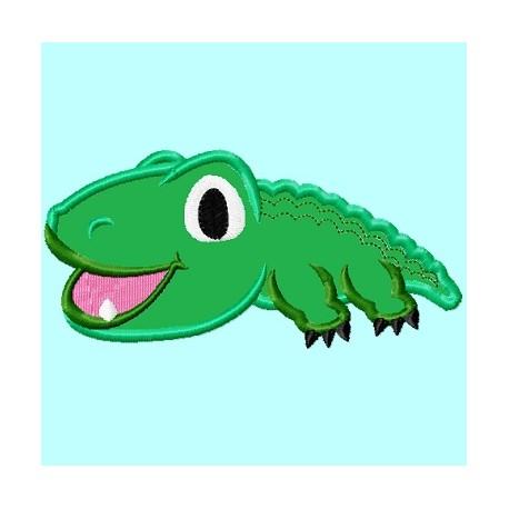 Cute Baby Alligator APPLIQUE Embroidery Design ...