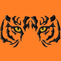 Tiger Eyes Embroidery Design