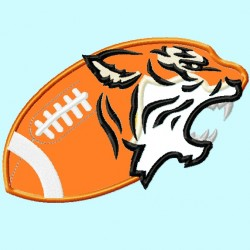 Tiger head on Football