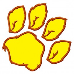 Dog Tiger Bobcats Paw Applique