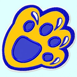 Tiger Paw Blue Applique