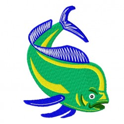Mahi Mahi Fish fill Embroidery Design