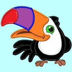 Tucan Bird Applique