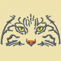 Bobcats or Wildcats Eyes Embroidery Design