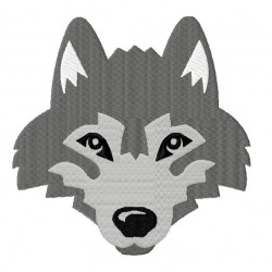 Wolf Husky Head Fill