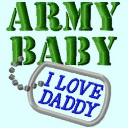 Army Baby, I love Daddy Badge