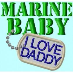 Marine Baby Badge