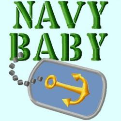 Navy Baby Badge