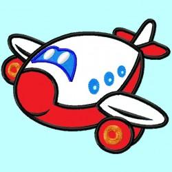 Cute Red Airplane