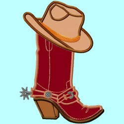Cowboy Boot and Hat APPLIQUE