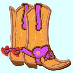 Cowgirl Boots APPLIQUE