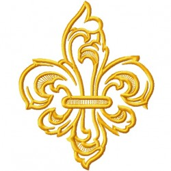 Fleur De Lis Gold fill Embroidery Design