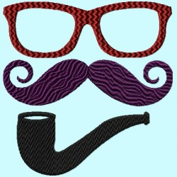 Mustache Glasses Pipe