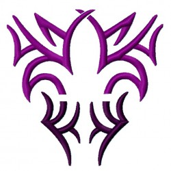Fleur De Lis Tribal fill Embroidery Design