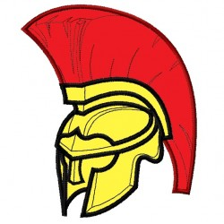 Spartan or Trojan Helmet Applique Embroidery Design
