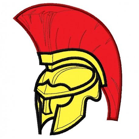 Spartan or Trojan Helmet Applique Embroidery Design