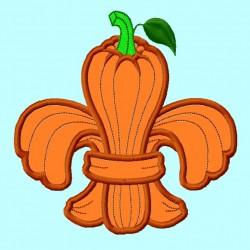 Fleur de Lis Pumpkin