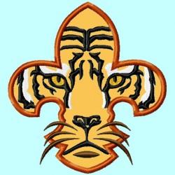 Fleur de Lis Tiger