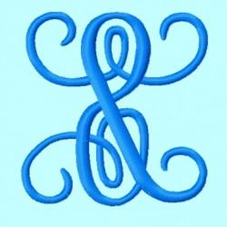ADD ON Ampersand Font Vine Monogram