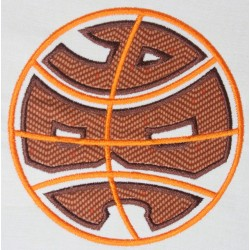 Basketball round Monogram Font Set